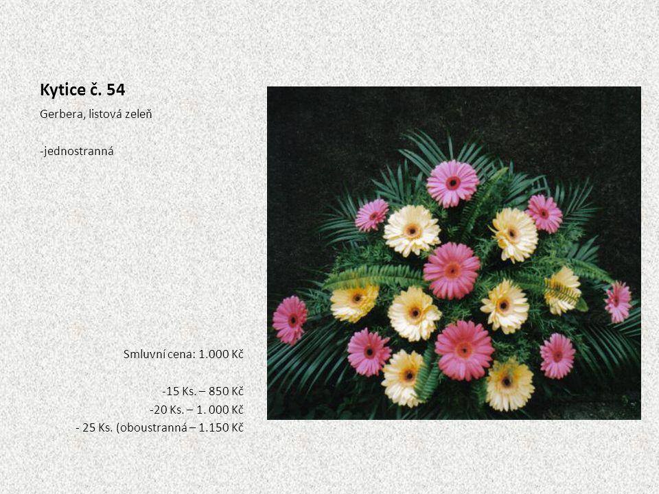Kytice č. 54 Gerbera, listová zeleň jednostranná
