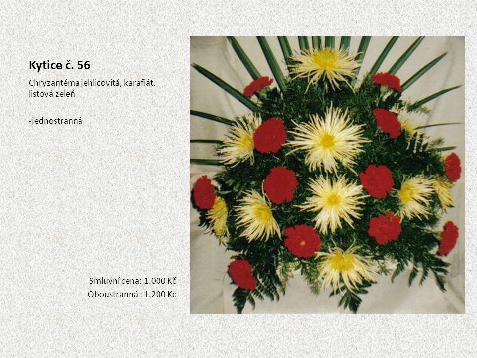 Kytice č. 56 Chryzantéma jehlicovitá, karafiát, listová zeleň