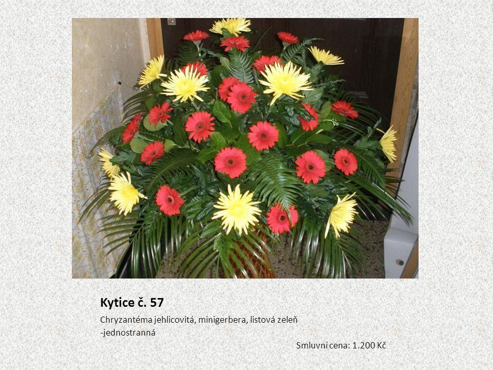 Kytice č. 57 Chryzantéma jehlicovitá, minigerbera, listová zeleň