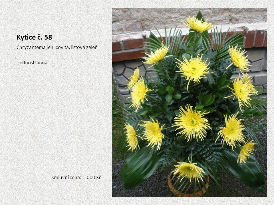 Kytice č. 58 Chryzantéma jehlicovitá, listová zeleň jednostranná