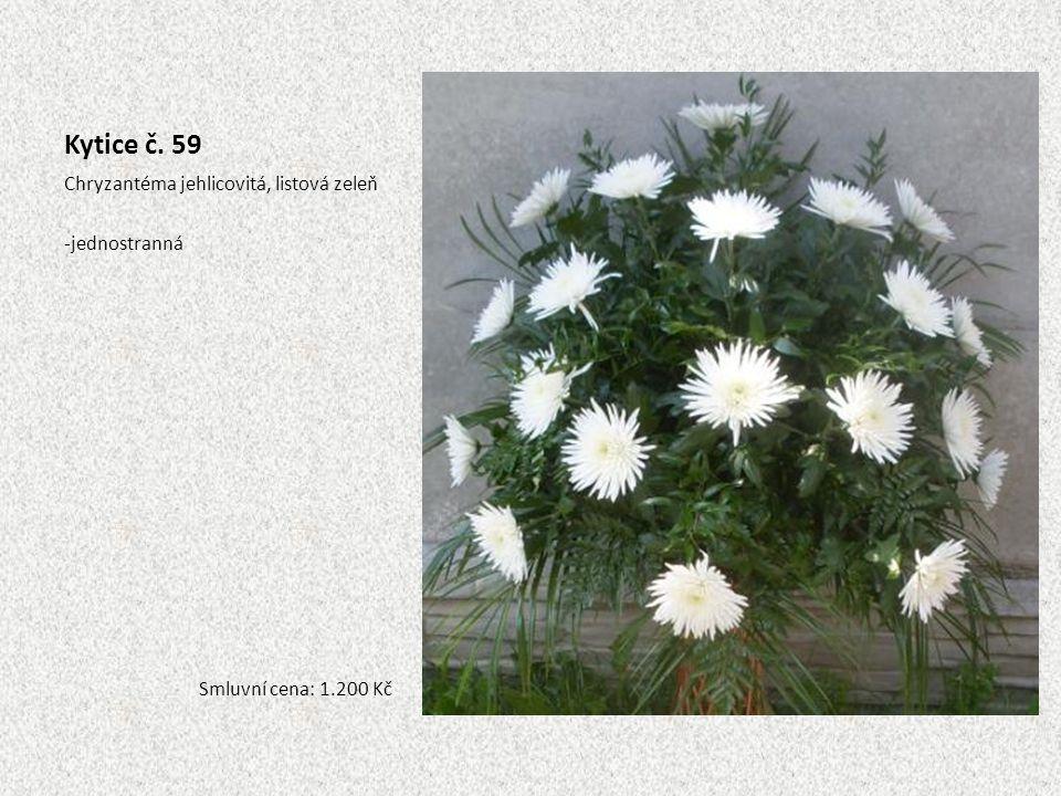 Kytice č. 59 Chryzantéma jehlicovitá, listová zeleň jednostranná