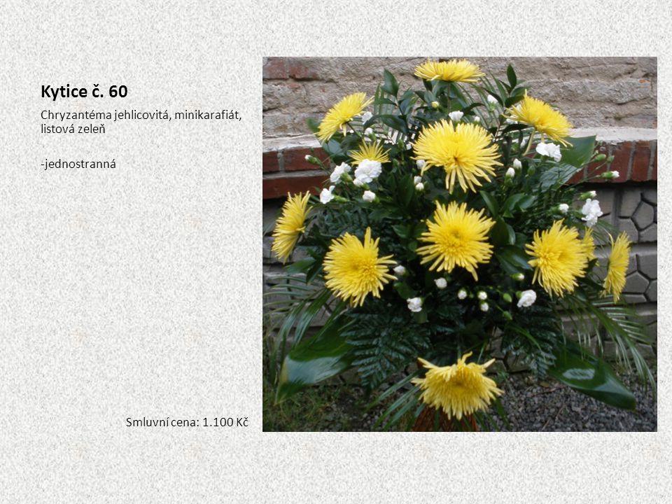 Kytice č. 60 Chryzantéma jehlicovitá, minikarafiát, listová zeleň
