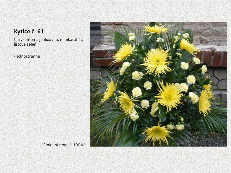 Kytice č. 61 Chryzantéma jehlicovitá, minikarafiát, listová zeleň