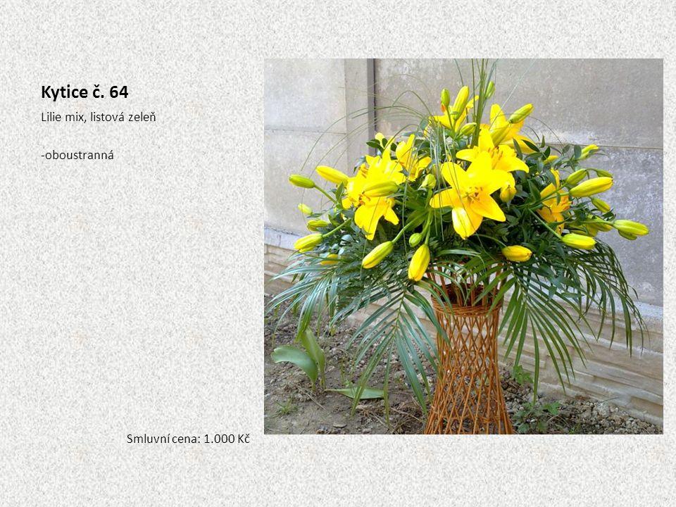 Kytice č. 64 Lilie mix, listová zeleň oboustranná