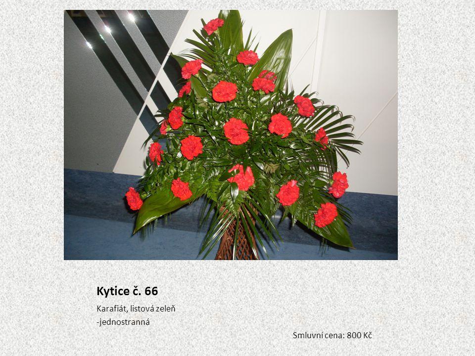Kytice č. 66 Karafiát, listová zeleň jednostranná Smluvní cena: 800 Kč