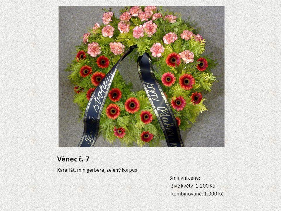 Věnec č. 7 Karafiát, minigerbera, zelený korpus Smluvní cena: