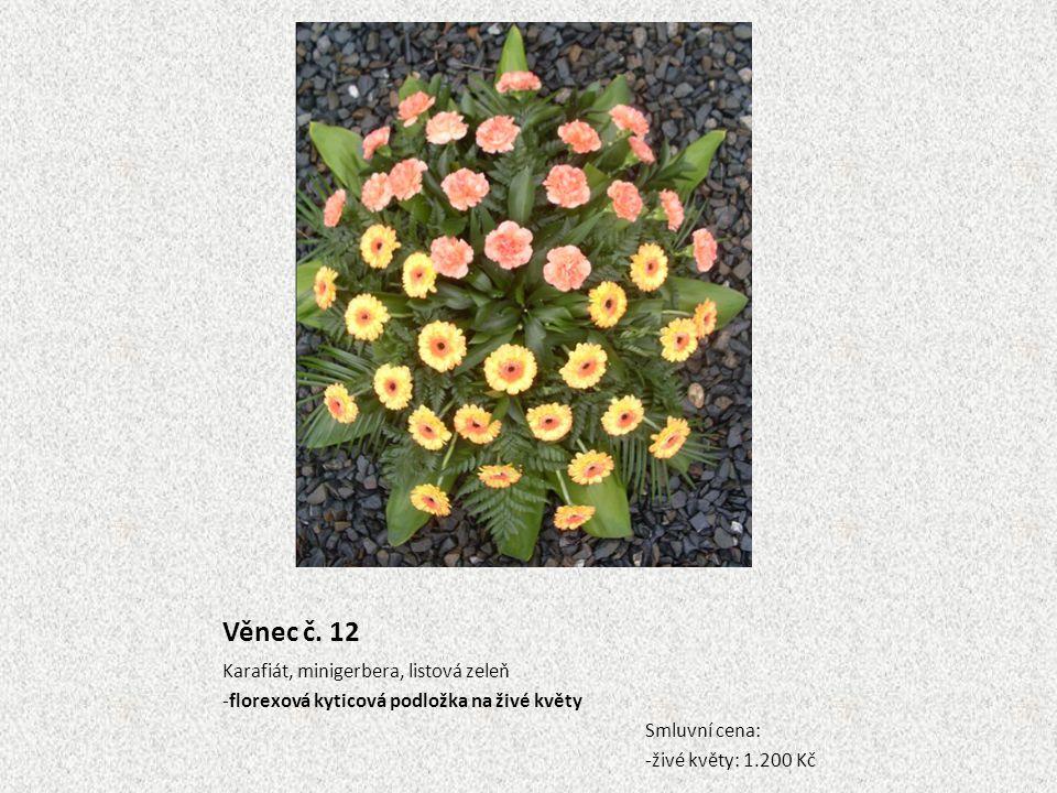 Věnec č. 12 Karafiát, minigerbera, listová zeleň