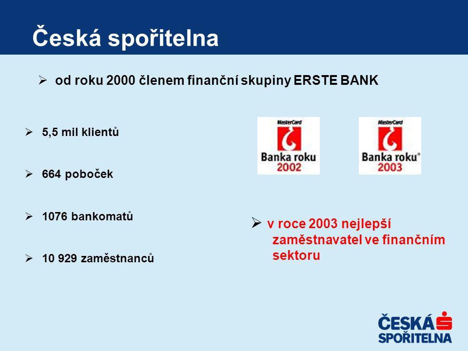 Česká spořitelna v roce 2003 nejlepší
