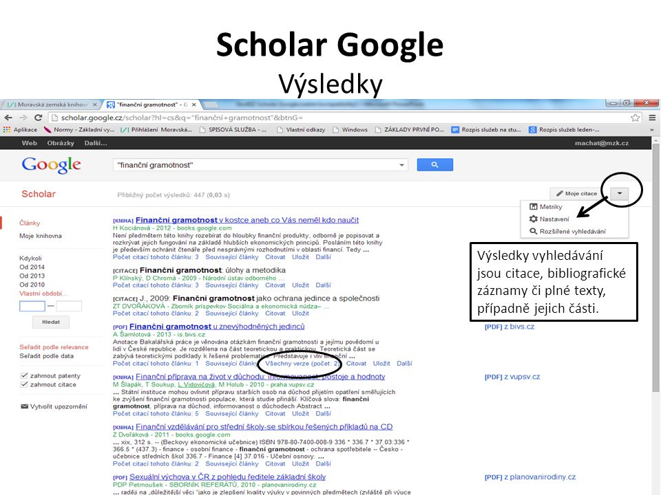 Scholar Google Výsledky