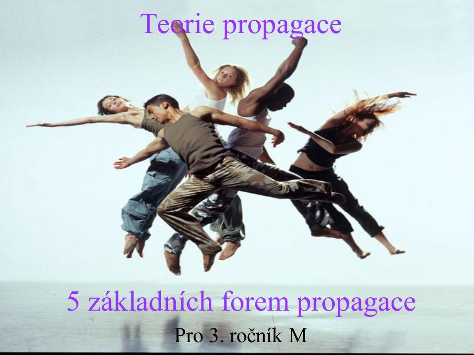 Teorie propagace 5 základních forem propagace