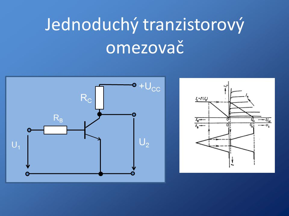 Jednoduchý tranzistorový omezovač