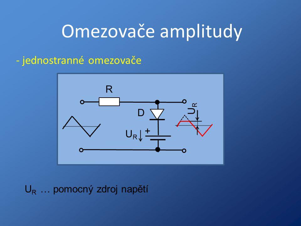 Omezovače amplitudy - jednostranné omezovače R D + UR