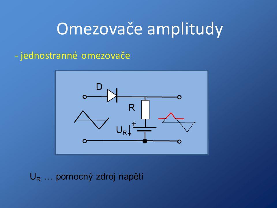 Omezovače amplitudy - jednostranné omezovače D R + UR