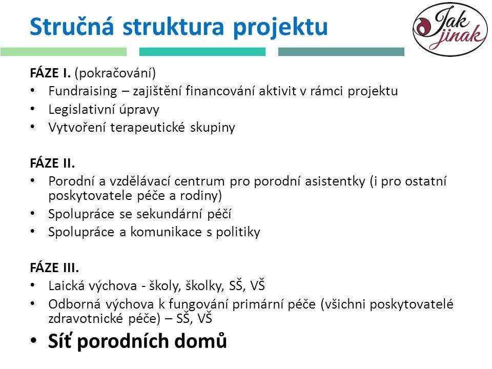 Stručná struktura projektu