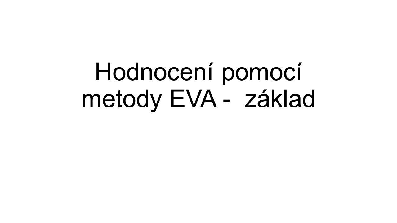 Hodnocení pomocí metody EVA - základ