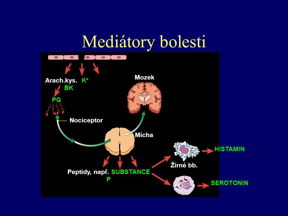 Peptidy, např. SUBSTANCE P