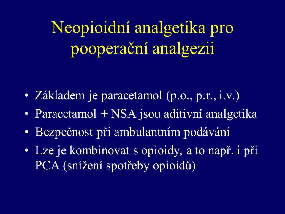 Neopioidní analgetika pro pooperační analgezii