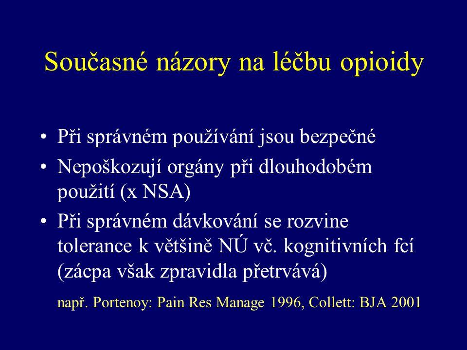 Současné názory na léčbu opioidy