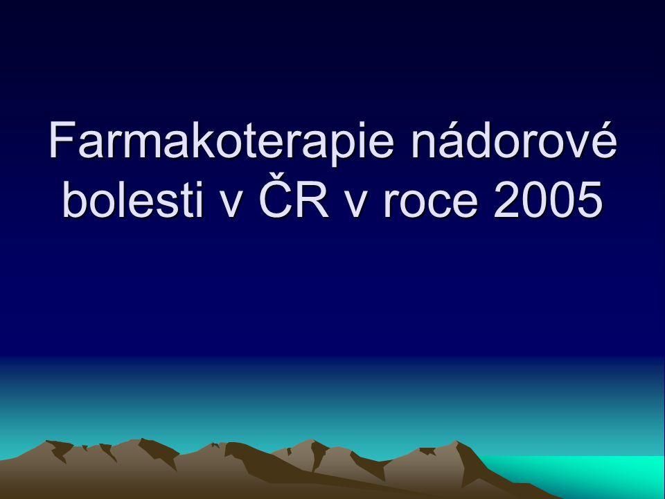 Farmakoterapie nádorové bolesti v ČR v roce 2005