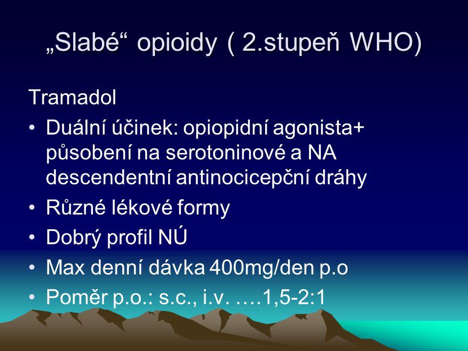 """""""Slabé opioidy ( 2.stupeň WHO)"""