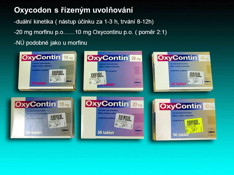 Oxycodon s řízeným uvolňování