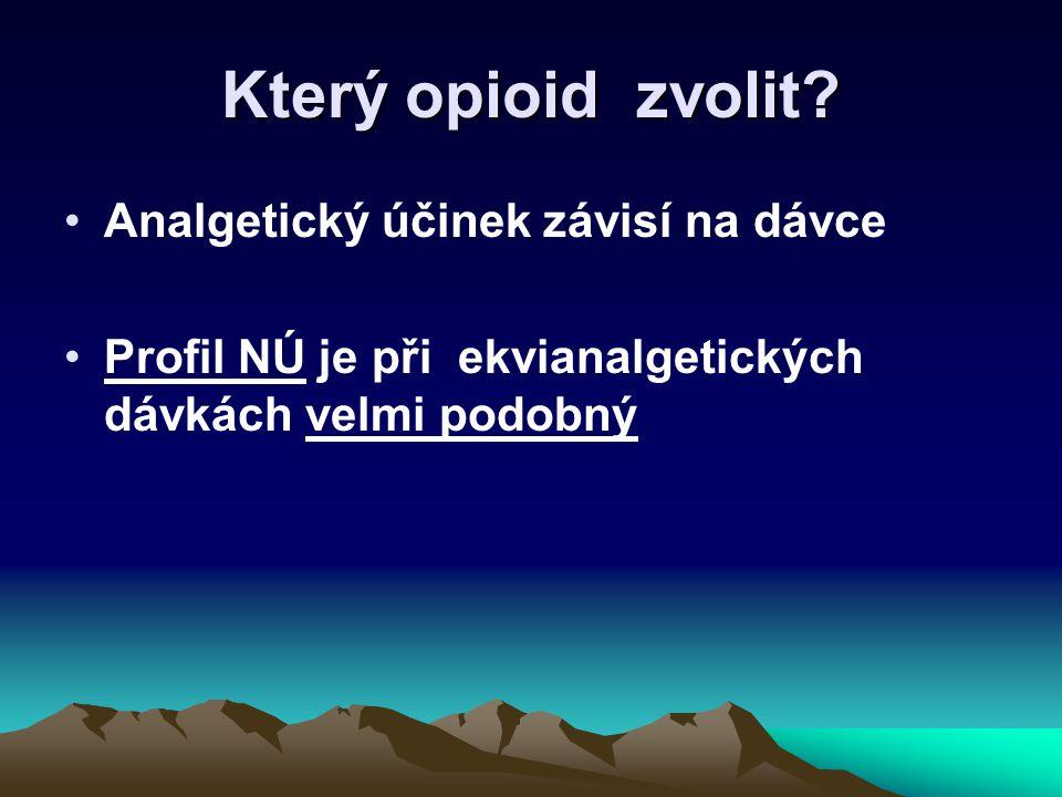 Který opioid zvolit Analgetický účinek závisí na dávce
