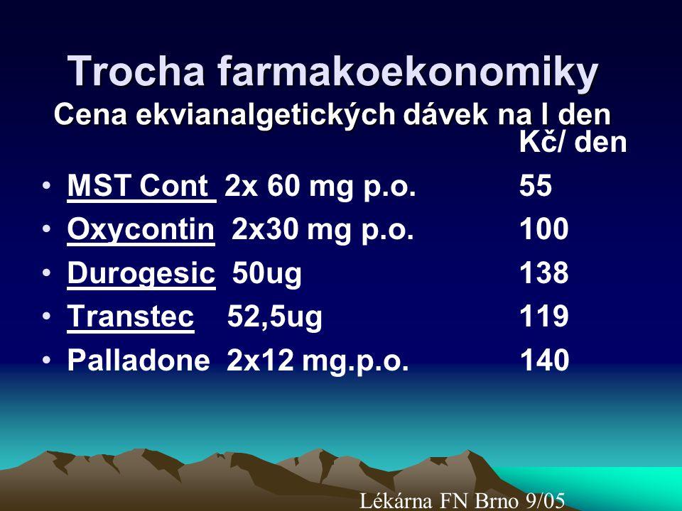 Trocha farmakoekonomiky Cena ekvianalgetických dávek na l den