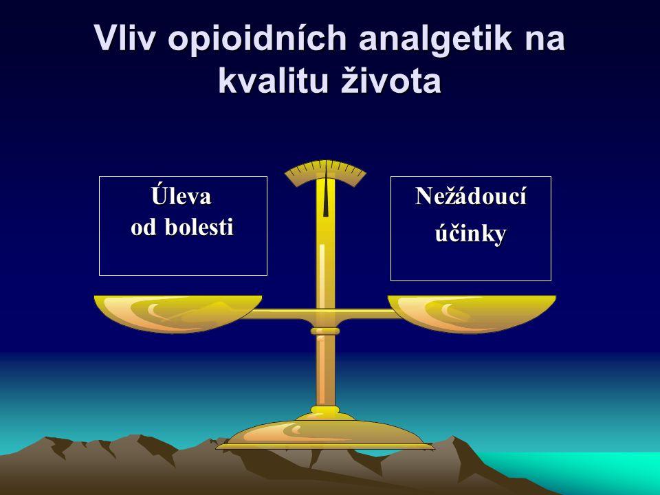 Vliv opioidních analgetik na kvalitu života