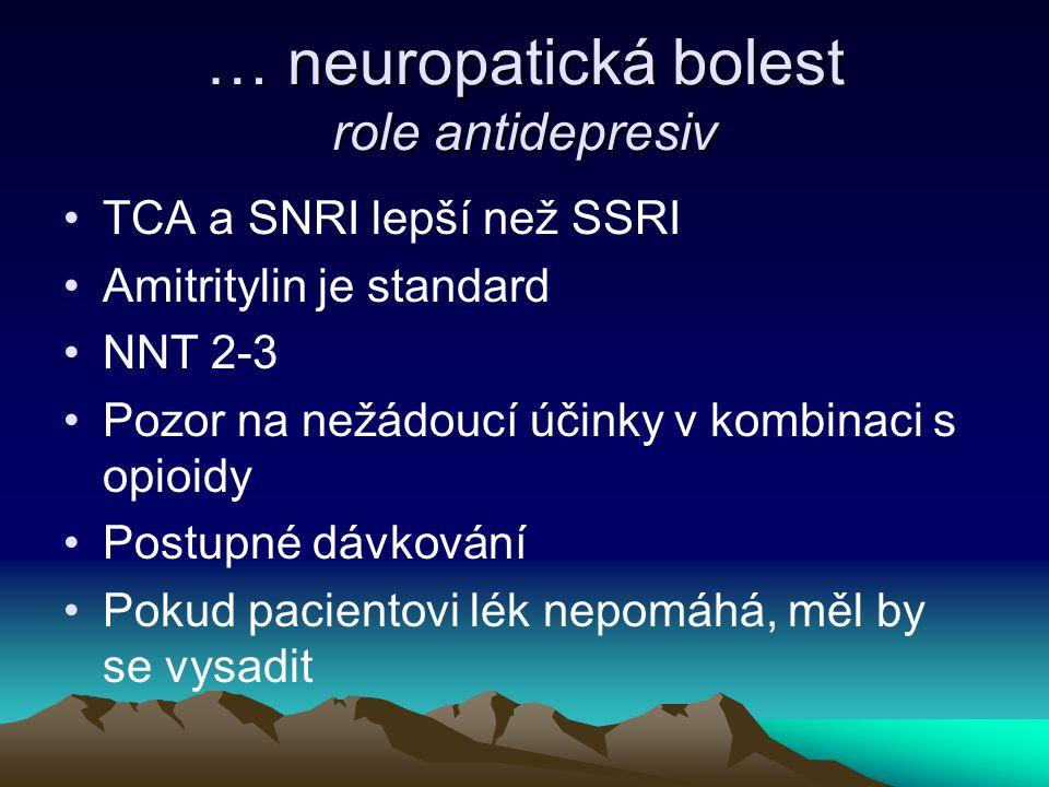 … neuropatická bolest role antidepresiv