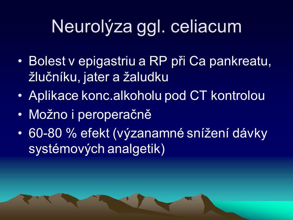 Neurolýza ggl. celiacum