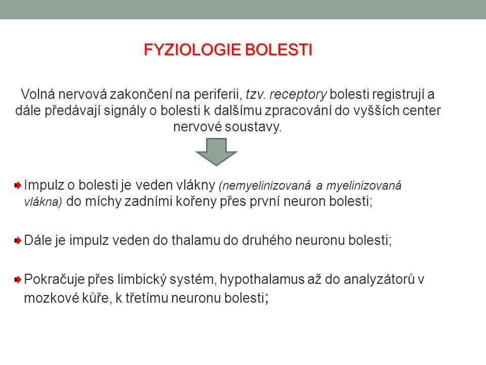 FYZIOLOGIE BOLESTI