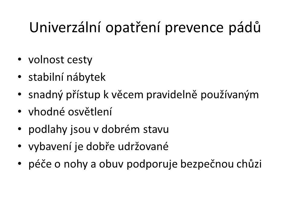 Univerzální opatření prevence pádů