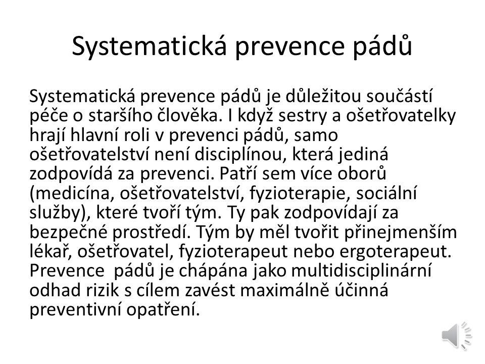 Systematická prevence pádů