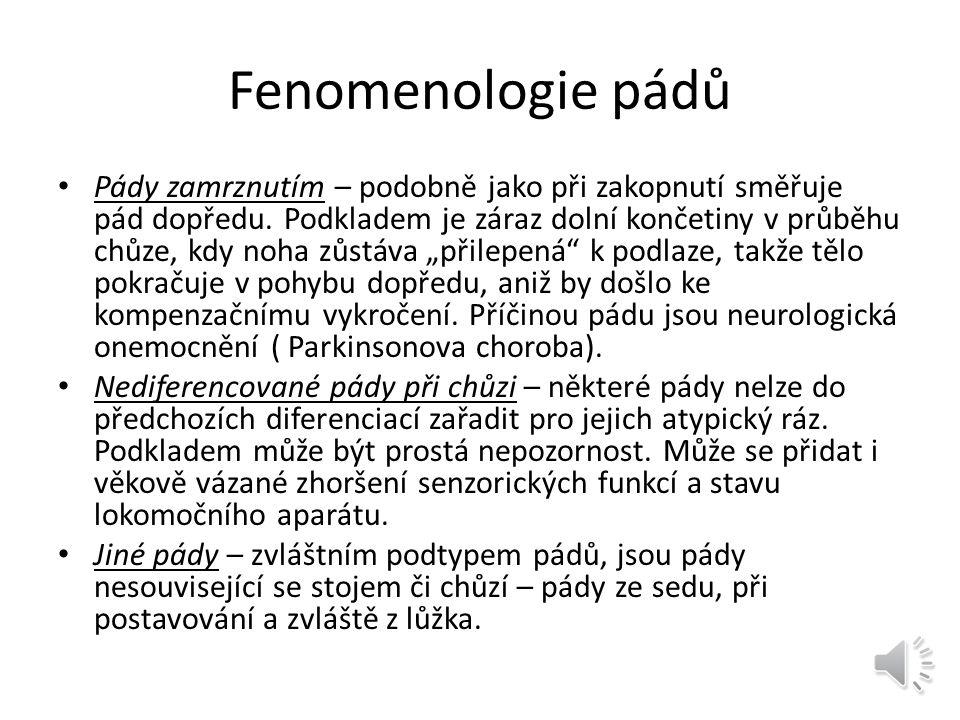Fenomenologie pádů