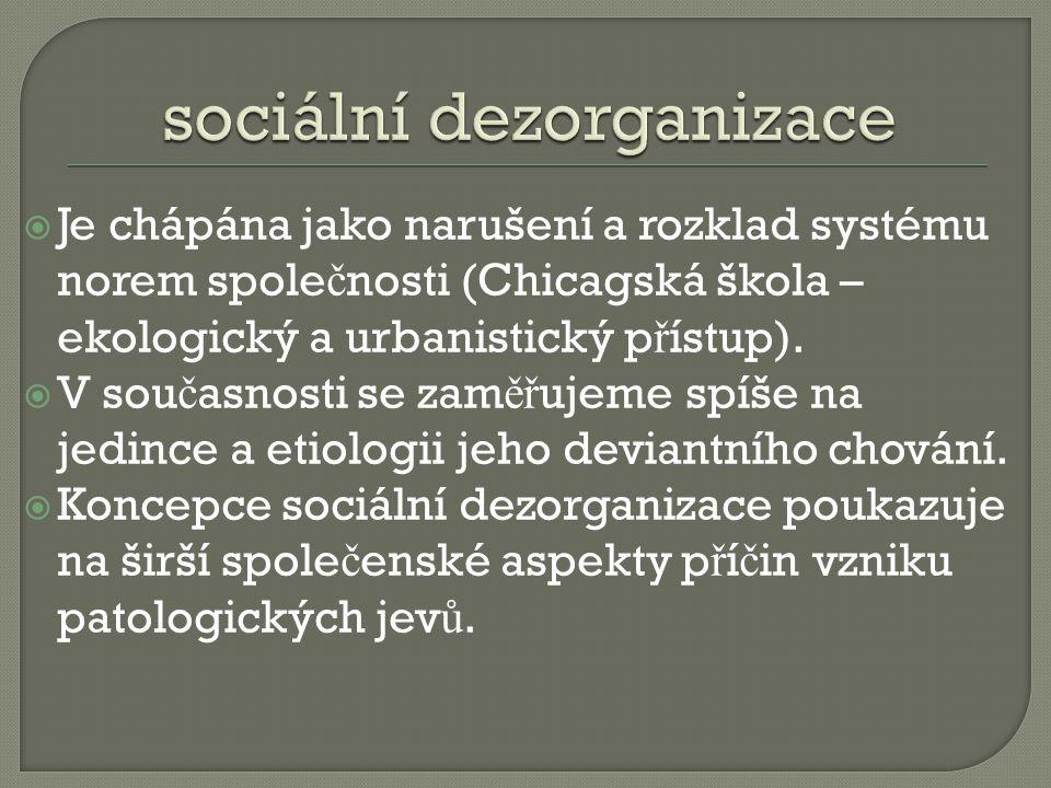 sociální dezorganizace