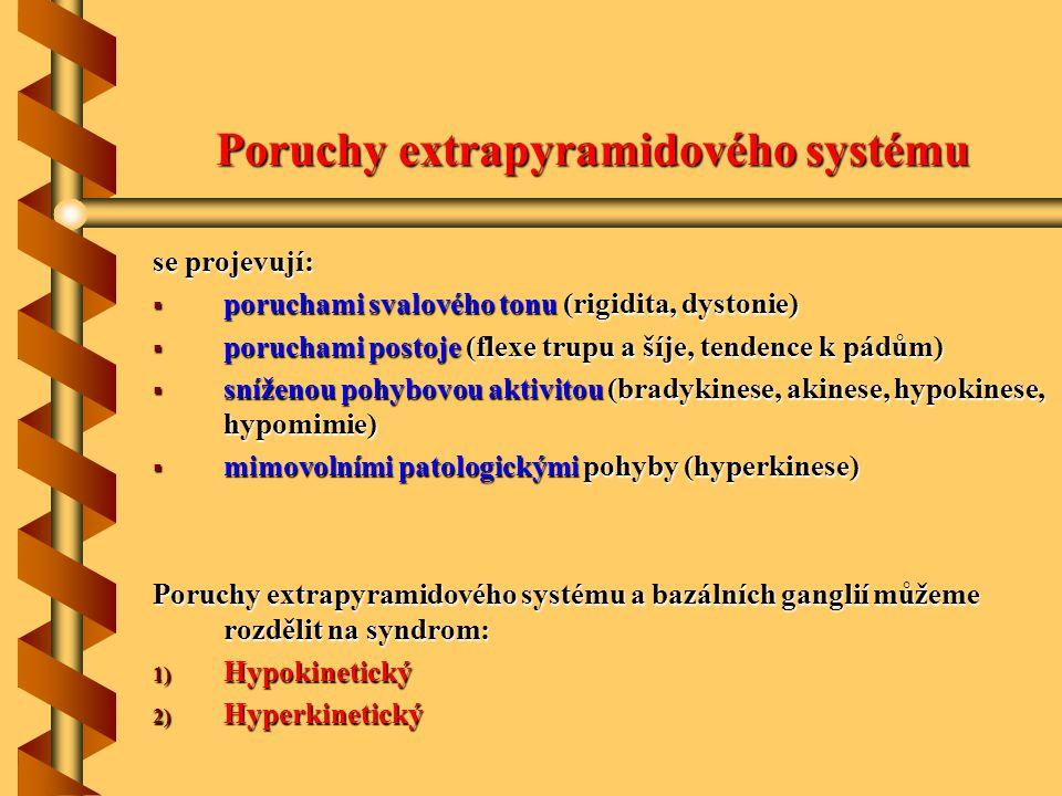 Poruchy extrapyramidového systému