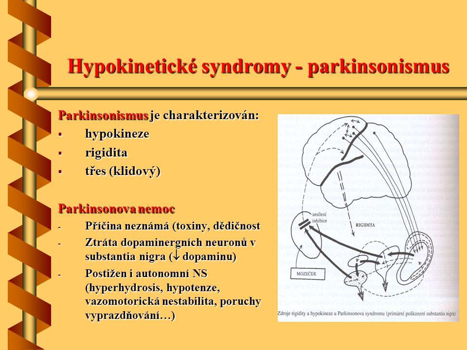 Hypokinetické syndromy - parkinsonismus
