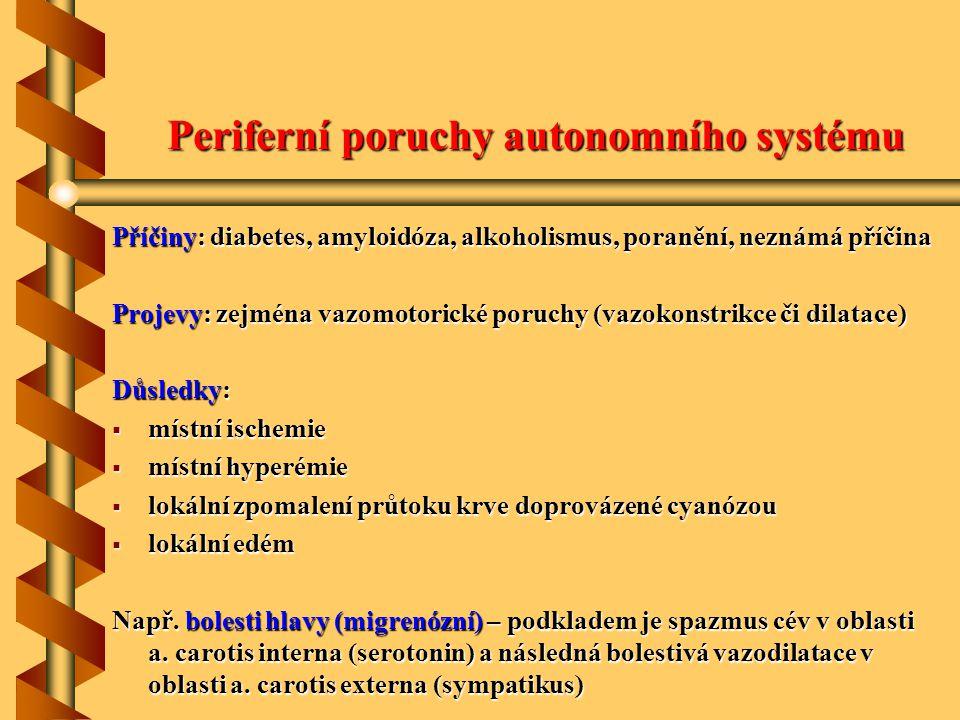 Periferní poruchy autonomního systému