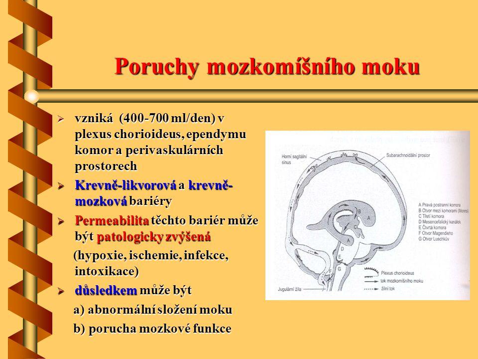 Poruchy mozkomíšního moku