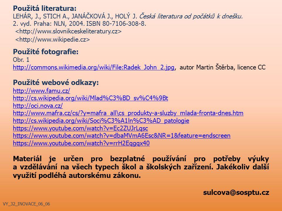 Použité webové odkazy: