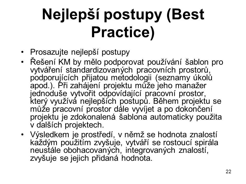 Nejlepší postupy (Best Practice)