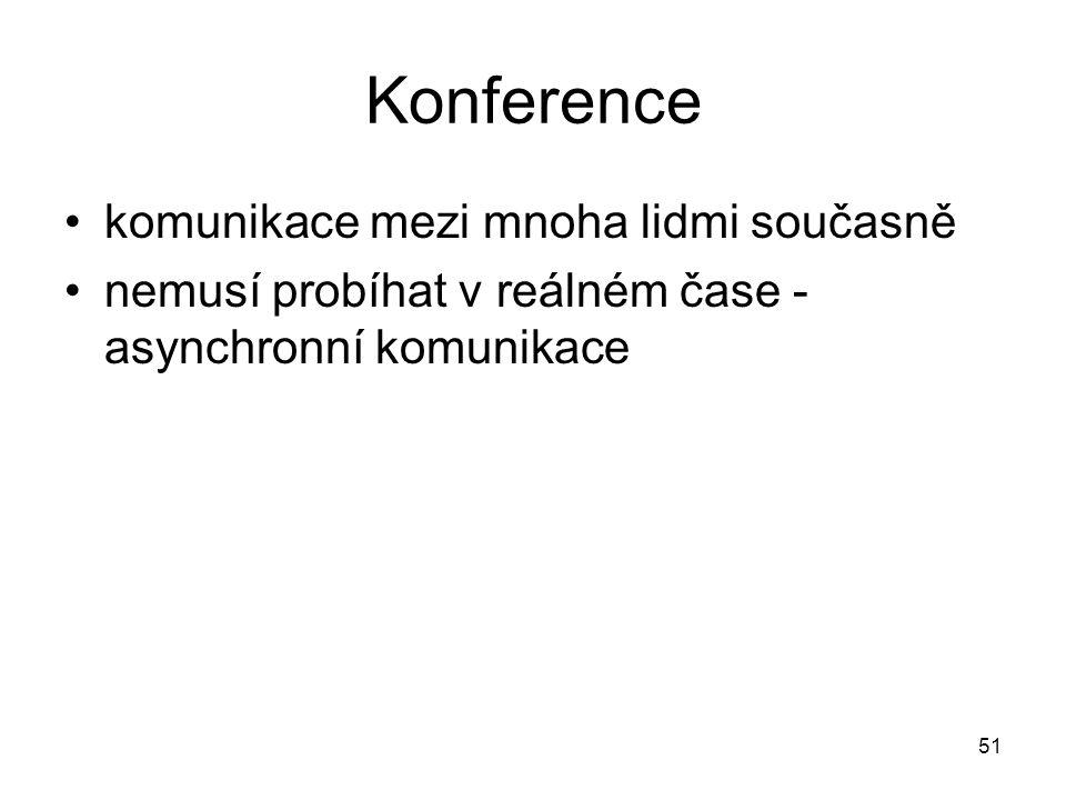 Konference komunikace mezi mnoha lidmi současně