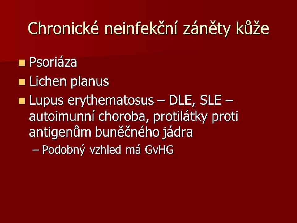 Chronické neinfekční záněty kůže