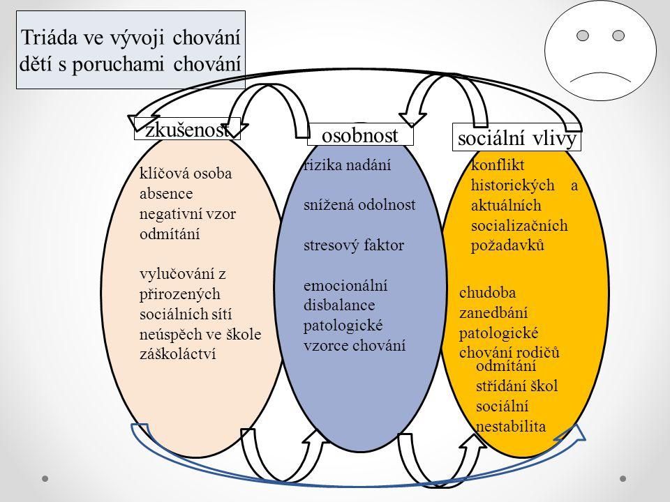 Triáda ve vývoji chování dětí s poruchami chování