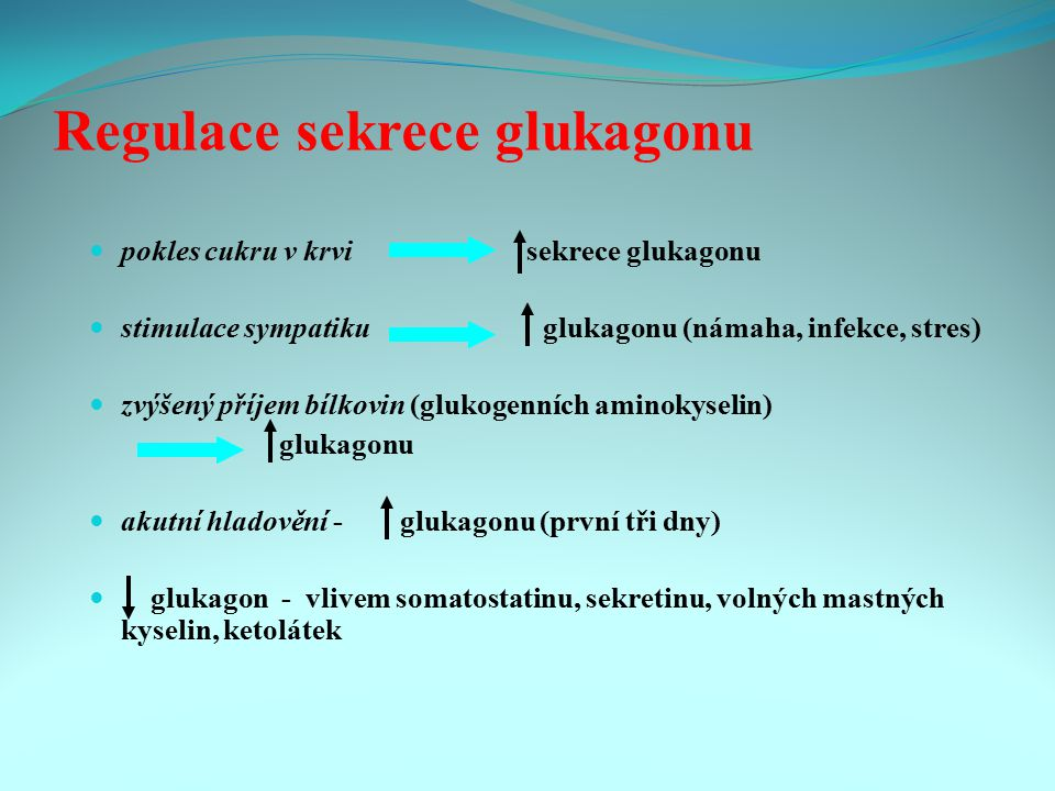 Regulace sekrece glukagonu