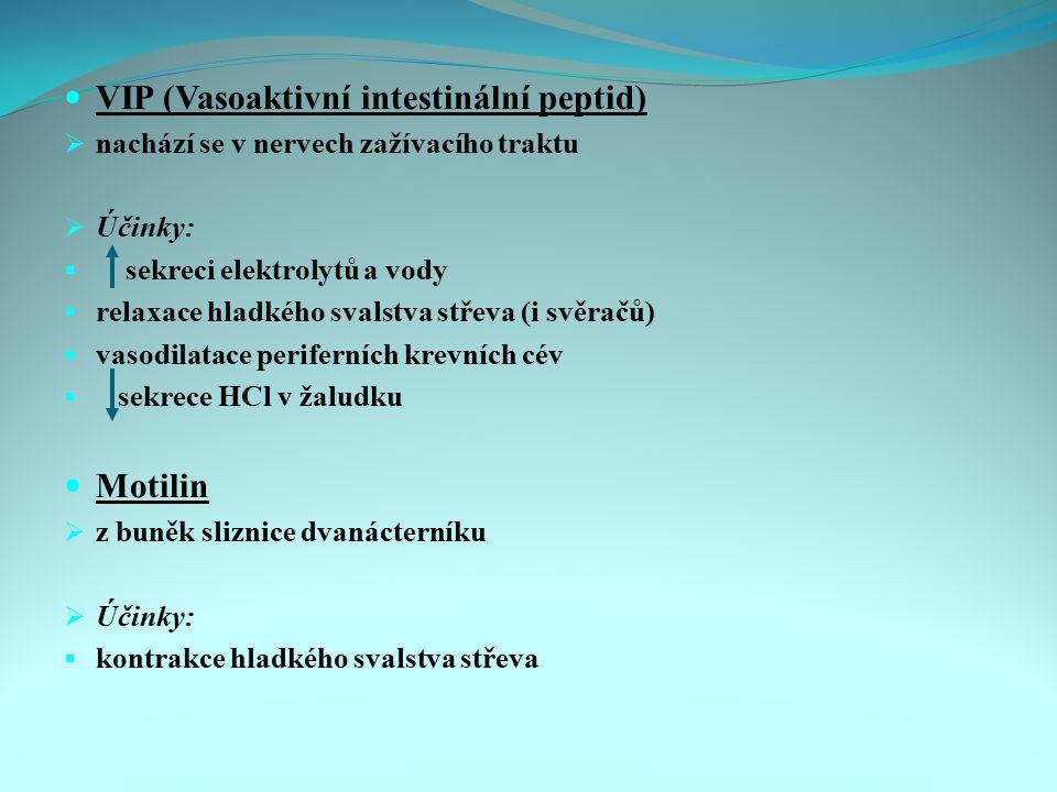 VIP (Vasoaktivní intestinální peptid)
