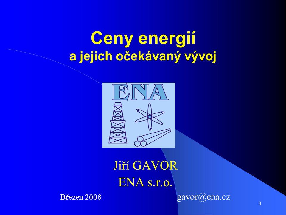 Ceny energií a jejich očekávaný vývoj