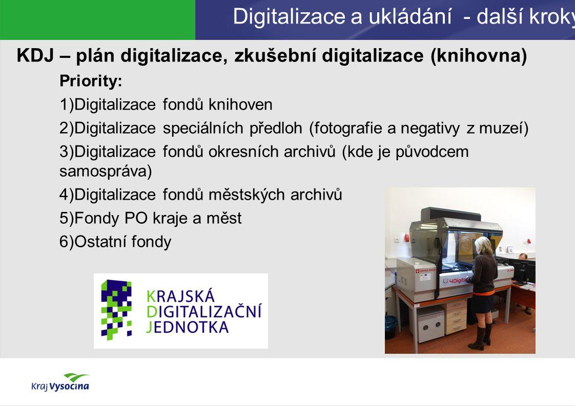 Digitalizace a ukládání - další kroky