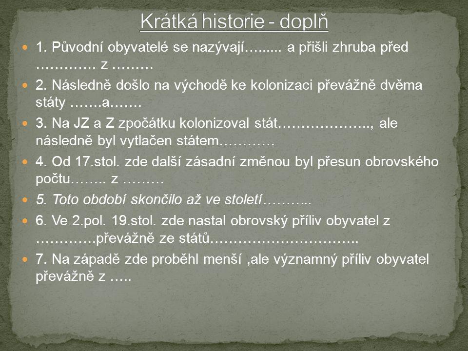Krátká historie - doplň