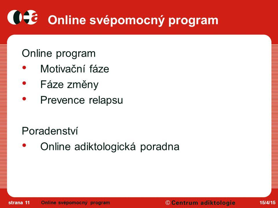 Online svépomocný program
